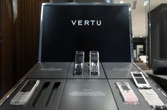Vertu phones on display in store Royalty Free Stock Photography