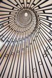 Vertycal view of a spiral staircase Royalty Free Stock Image