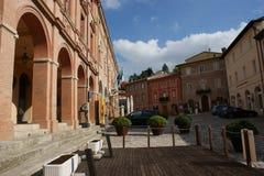 Verucchio, Rimini, Emilia Romagna, Italien Marktplatz Malatesta lizenzfreie stockfotos