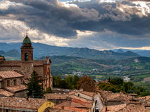 Verucchio town from above. Italy Royalty Free Stock Photo