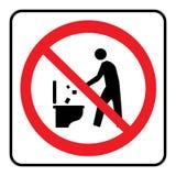 Verunreinigen Sie herein nicht zur Toilettenikone lizenzfreie abbildung