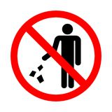Verunreinigen Sie nicht Zeichen Lizenzfreie Abbildung