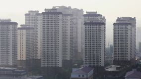Verunreinigte Geiststadtr?nde der Stadt Kunming morgens stock footage
