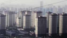 Verunreinigte Geiststadtr?nde der Stadt Kunming morgens stock video footage