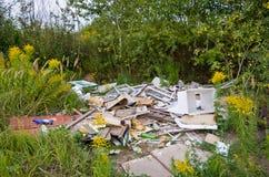 Verunreinigte Natur Stockfoto