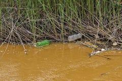 Verunreinigtes gelbes river8 Lizenzfreie Stockbilder
