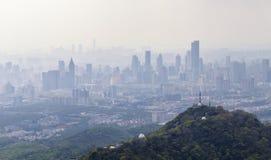 Verunreinigung über der Stadt Stockbilder