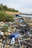 Verunreinigung auf italienischem Meer Lizenzfreie Stockfotos