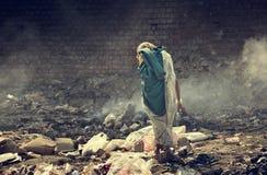 Verunreinigung und Armut stockbild