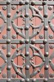 Vervaardigd ornament op de poort Stock Afbeeldingen