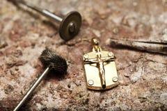 Vervaardiging en reparatie van juwelen royalty-vrije stock afbeelding