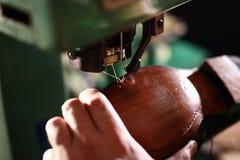 Vervaardiging, schoenmakenworkshop royalty-vrije stock fotografie