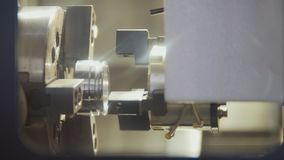 Vervaardiging van 3D delen op de machine bij de fabriek Stock Afbeelding