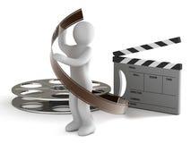 Vervaardiging van de film Royalty-vrije Stock Foto