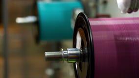 Vervaardiging van optische kabel stock footage
