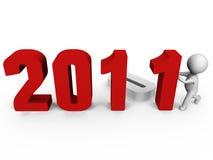 Vervangend aantallen om nieuw jaar 2011 te vormen - een 3d ima Stock Foto's