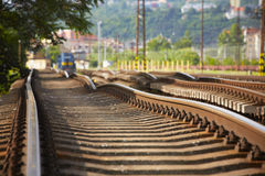 Vervanging van spoorwegspoor stock foto