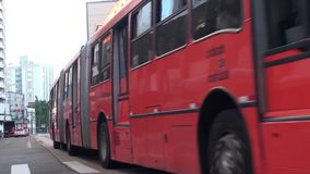Vervoer, Curitiba, Brazilië - Mei 20, 2018 stock video