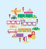 Vervoer in de stads vectorreeks Royalty-vrije Illustratie