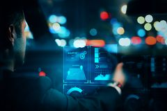 Vervoer en futuristisch concept Stock Afbeeldingen