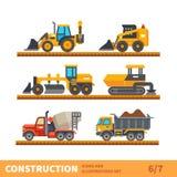 Vervoer en hulpmiddel voor bouw royalty-vrije illustratie