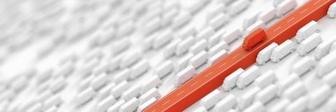 Vervoer en logistiekachtergrond Stock Afbeelding