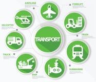 Vervoer en logistiekconcept Stock Foto