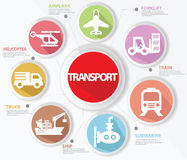 Vervoer en logistiekconcept, Kleurrijke versie Stock Foto's