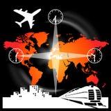 Vervoer en reis stock illustratie
