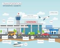 Vervoer en stad Royalty-vrije Stock Afbeelding