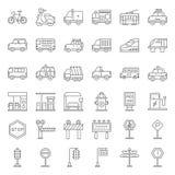 Vervoer en teken op weg stock illustratie