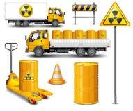 Vervoer met radioactief afval stock illustratie