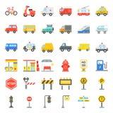 Vervoer met teken aan wegkant die wordt geplaatst royalty-vrije illustratie