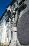 Vervoer op het bouwterrein in Wartburg-kasteel Royalty-vrije Stock Foto