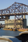 Vervoer over zee in zuidenkant van Chicago royalty-vrije stock foto
