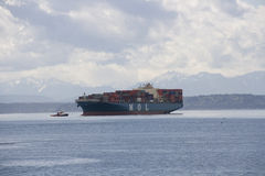 Vervoer over zeeschip Stock Foto's