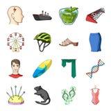 Vervoer, recreatie, dier en ander Webpictogram in beeldverhaalstijl Geneeskunde, schoonheid, manierpictogrammen in vastgestelde i stock illustratie