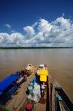 Vervoer van goederen op Amazonië Royalty-vrije Stock Afbeeldingen