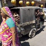 Vervoer van Indische schooljongens. Stock Afbeelding