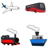 Vervoer vastgestelde illustratie stock illustratie