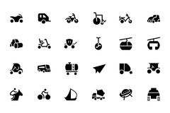 Vervoer Vectorpictogrammen 4 Royalty-vrije Stock Afbeeldingen