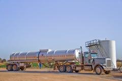 Vervoer vrachtwagen-6966 van de olie Stock Fotografie