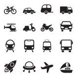 Vervoerpictogrammen Stock Fotografie