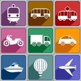 Vervoerpictogrammen Royalty-vrije Stock Foto's