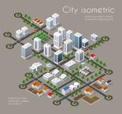 Vervoers 3D stad vector illustratie