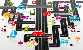Vervoersinfrastructuur stock illustratie