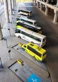 Vervoert op een rij per bus royalty-vrije stock foto's
