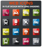 Vervoertypes pictogramreeks Royalty-vrije Stock Afbeelding