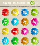 Vervoertypes pictogramreeks Royalty-vrije Stock Foto's