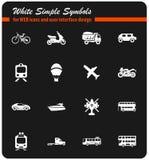 Vervoertypes pictogramreeks Stock Fotografie